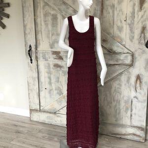 Max Studio ruffle maxi  dress